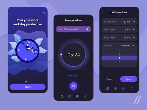 Pomodoro App UI Design