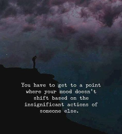 You have to get to a point where your mood doesn't shift.. —via https://ift.tt/2eY7hg4