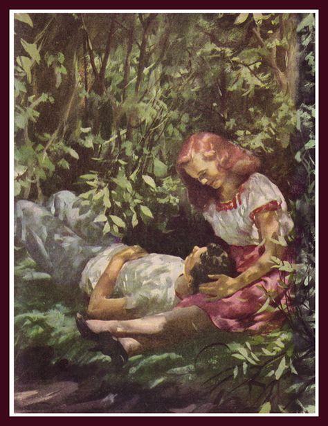 us <3 Romance Art, Vintage Romance, Vintage Art, Tree Drawings Pencil, Art Drawings, Norman Rockwell, Love Art, All Art, Harry Anderson