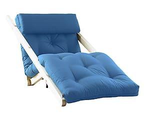Chauffeuse Convertible Figo Pin Et Coton Naturel Et Bleu L70 Convertible Chauffeuse Maison