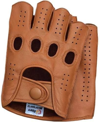 Riparo Motorsports Mens Genuine Leather Mesh Perforated Summer Driving Motorcycle Gloves