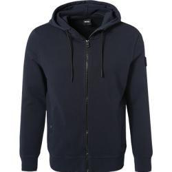 Boss Sweatjacke Herren Baumwolle Blau Hugo Boss In 2020 Sweatshirt Jacke Herren Sweatshirt Jacke Baumwolle