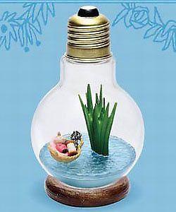 Little MY ,Cute!! Details about  /Moomintroll MOOMIN Light Bulb Terrarium