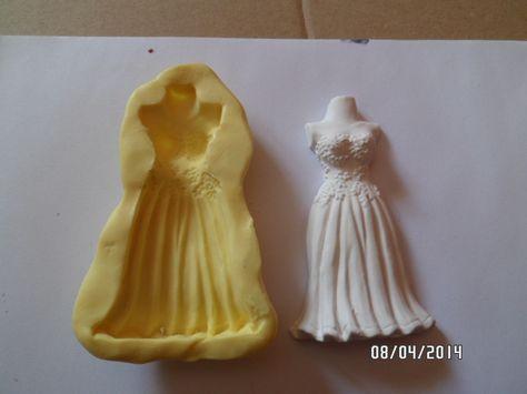 Moule Silicone Mariage Robe De La Mariee Gm Pour Fimo Platre