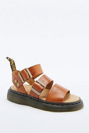 Martens Gryphon Heavy Strap Tan Sandals at Urban Outfitters today. We carry all the latest styles, colours and brands for you to choose from right here. Tan Sandals Heels, Leather Sandals, Sandals Platform, Summer Sandals, Brown Sandals, Tan Leather, Sock Shoes, Cute Shoes, Me Too Shoes