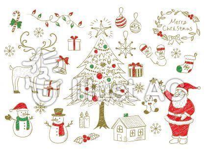 クリスマス手書き風素材1 クリスマスカード 手書き クリスマス