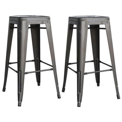 Strange Amerihome Loft Style 30 In Stackable Metal Bar Stool In Frankydiablos Diy Chair Ideas Frankydiabloscom