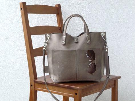 Leather bag Leather bag grey Leather bag by SanumiLeatherGoods