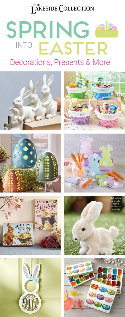 Show everybunny some love and celebrate Spring with Easter decor and gifts from Lakeside. From a unique bunny wreath to charming lighted eggs, we have the perfect accents for the season in cheerful pastel shades. Set the table for Easter dinner and fill those Easter baskets with values that won't leave you a broke bunny. Make Easter magical with gifts and more from Lakeside!