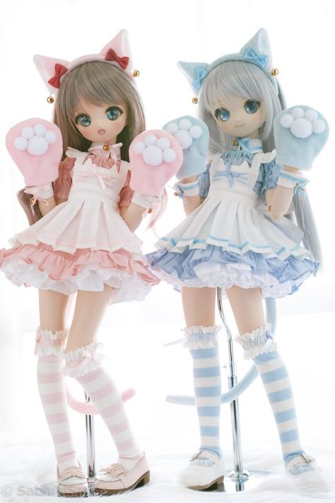 Kawaii Doll, Kawaii Art, Pretty Dolls, Beautiful Dolls, Anime Figurines, Smart Doll, Anime Poses, Doll Repaint, Cute Icons