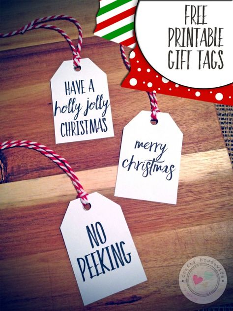 Free Black & White Printable Gift Tags -- love that they don't use colored ink!