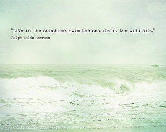 Ocean Beach Quote Waves Aqua Teal Aquamarine White Bokeh Sea   Etsy