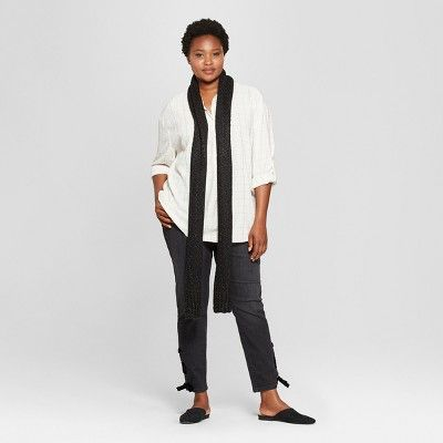 ecafcf86 Women's Plus Size Plaid Long Sleeve Popover Flannel Button-Down Shirt - Universal  Thread White 2X