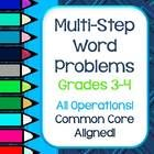 This set of 20 multi-step word problems reflect the Common Core State Standards for grades 3 and 4.  Problems are included in THREE formats:  with ...