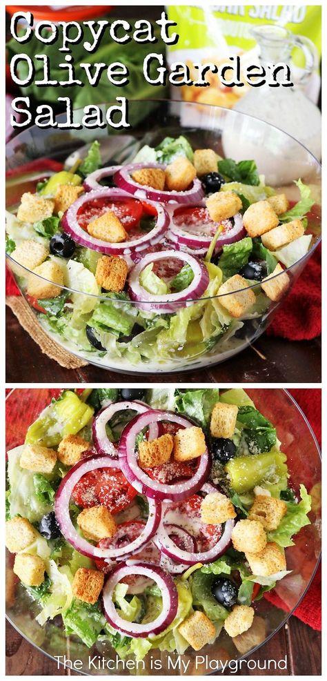 Olive Garden Salad, Olive Garden Recipes, Olive Garden Dressing, Restaurant Recipes, Dinner Recipes, Salad Recipes To Go With Lasagna, Best Restaurant Salads, Italian Salad Recipes, Salads To Go