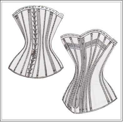 free pdf sewing pattern corset in russian, very easy to use | free ...