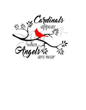 Cardinals Appear When Angels Are Near Svg Beautytatoos Red Bird Tattoos Cardinal Tattoos Svg Quotes