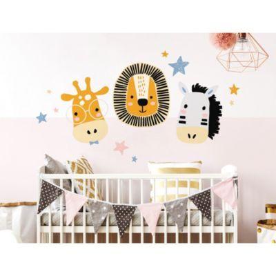 Wandtattoo Pastell Tiere Giraffe Lowe Und Zebra Dekodino Wandtattoo Kinderzimmer Tiere Wandtattoo Kinderzimmer Wandtattoos Kinderzimmer