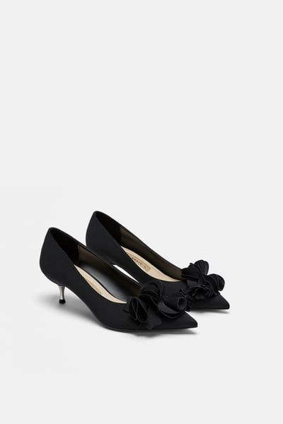 Floral Heels Kitten Heel Shoes Heels Kitten Heels