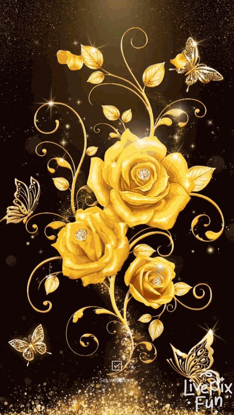 gold rose live wallpaper android live wallpaper