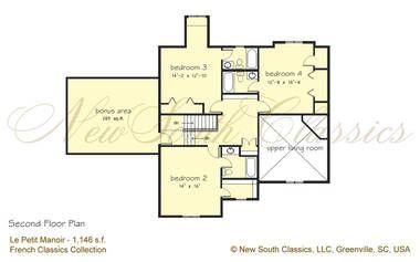 New South Classics Le Petit Manoir New Luxury House Plans House Plans Floor Plans