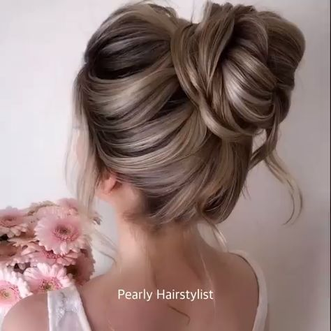 Romantic High UpStyle Hair Tutorial #hairstyletutorials Beautiful romantic updo hairstyle tutorial video to try at home.