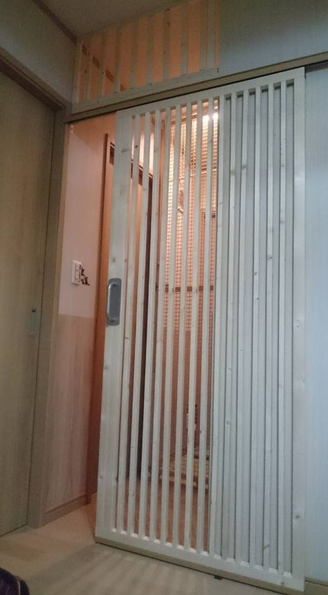 Kanecomimi 玄関の猫脱走防止ドア 2号機完成 エコ引き戸 Diy 引き戸 Diy 玄関 網戸 Diy 玄関ドア Diy