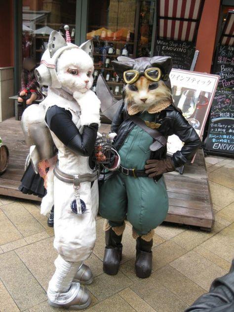 space cat and pilot- byxpigux