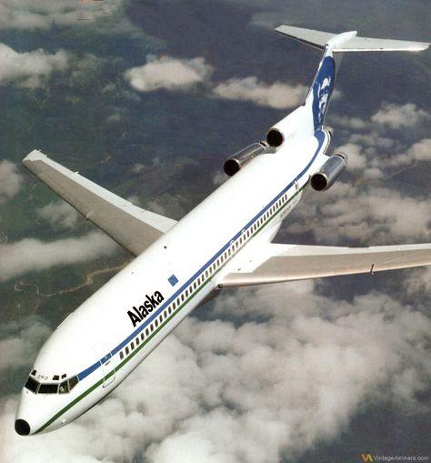 Alaska Airlines Boeing 727-200 www.facebook.com/VintageAirliners ✈