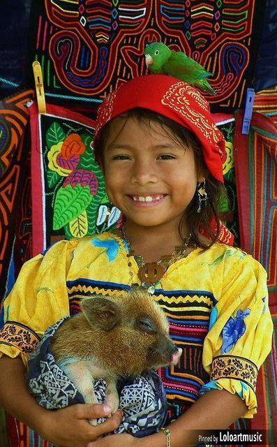Kuna girl, Panama                                                                                                                                                      Plus