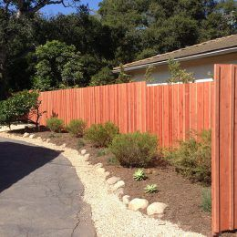 Con Heart Redwood Board And Batten Style Backyard Diy Projects Diy Backyard Fence Styles