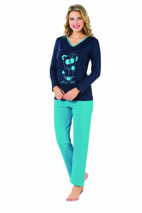 29.99$  Watch now - http://viztn.justgood.pw/vig/item.php?t=i4i76j51923 - Hot Sale Women Woman Sweet Bear Pajamas Sleepwear PJ2282 ( Made in Turkey )