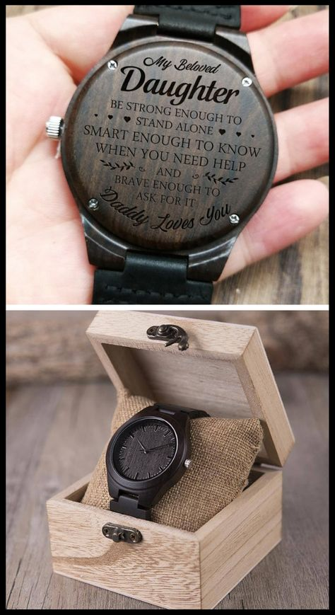 50% OFF plus FREE SHIPPING!  #engravedwoodenwatch #woodenwatch #engravedwatch #giftideas #giftfordaughter #anniversary #birthday #graduation