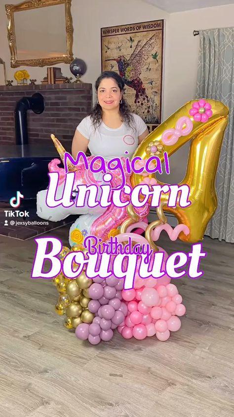 Balloon Crafts, Balloon Gift, Balloon Garland, Simple Birthday Decorations, Balloon Decorations Party, 40th Birthday Balloons, Birthday Diy, Balloon Arrangements, Balloon Centerpieces