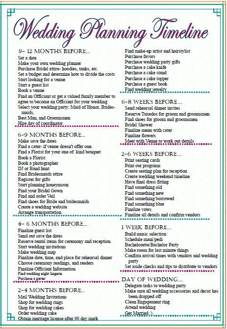 Sleepless in DIY Bride Country  Budget Bride Wedding Checklist - printable wedding checklist