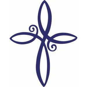 Silhouette Design Store: cross-shaped flourish