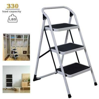 Ad Ebay Url 3 Steps Ladder Folding Non Slip Safety Tread Heavy Duty Industrial Home Use New In 2020 Industrial House Step Ladders 3 Step Ladder