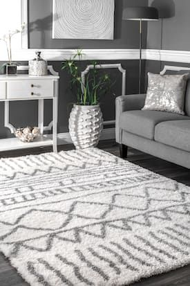 Rugs Usa Gray Cloudy Geometric