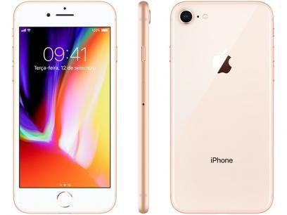 Iphone 8 Apple 256gb Dourado 4g Tela 4 7 Retina Camera 12mp Selfie 7mp Ios 11 Proc Chip A11 Com As Melhores Condicoes Voce Encontra N Iphone 8 Iphone Ios