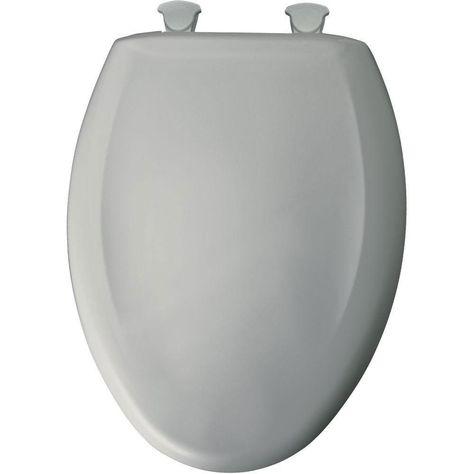 BEMIS Slow Soft Close Elongated Closed Front Toilet Seat White Hardware Hinges