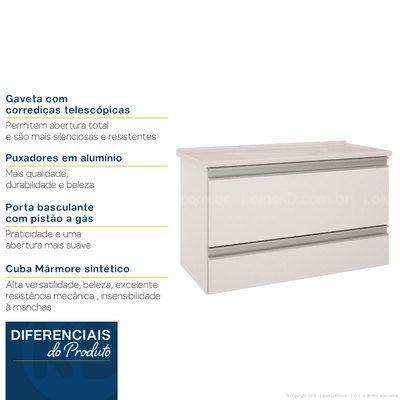 Gabinete Com Pia 1 Porta Basculante 1 Gaveta Treviso Branco Mgm Moveis Com Imagens Portas Basculantes Basculante Portas