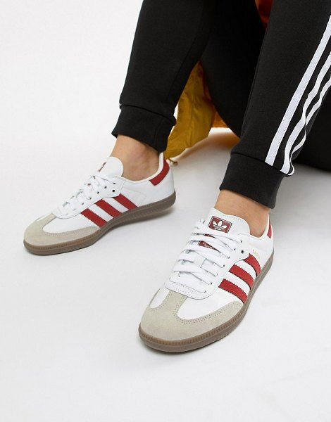 adidas Originals Samba Og Sneakers In White And Red | Adidas ...