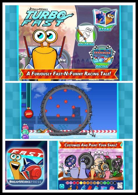 Dreamworks Press Turbo F.A.S.T. Book app.