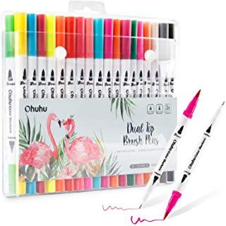 36 Colors Art Markers Ohuhu Dual Tips Coloring Brush Marker