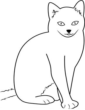 Ausmalbild Katze Sitzt Vor Dir Zum Ausmalen Ausmalbilder Malvorlagen Katze Ausmalbilderkatze Kindergart Ausmalbilder Katzen Ausmalen Ausmalbild