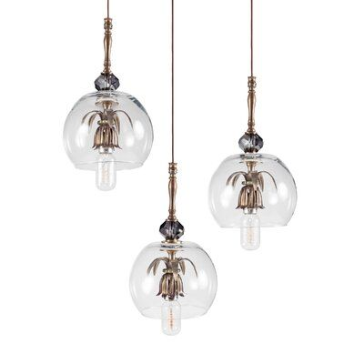 Luna Bella 1 Light Cluster Globe Pendant Globe Pendant Vintage Bulb Light