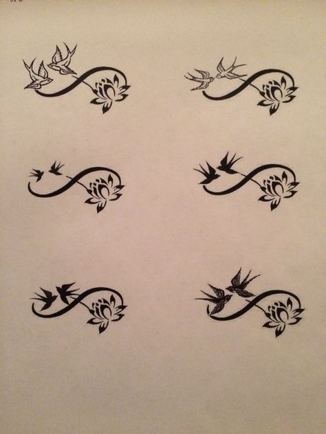 tattoos swallows and infinity,  #infinity #swallows #tattoos, Tattoo #trends #trend #women