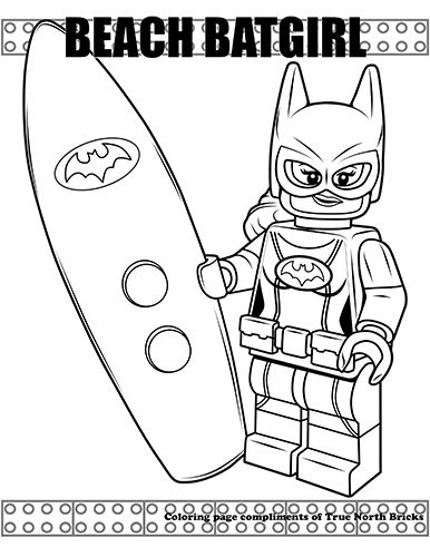 Coloring Page Beach Batgirl True North Bricks Lego Coloring Pages Coloring Pages Ninjago Coloring Pages