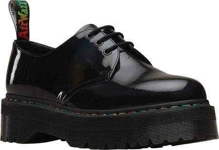 Dr Martens 1461 Quad 3 Eye Shoe Patent Leather Oxfords Shoes Black Shoes