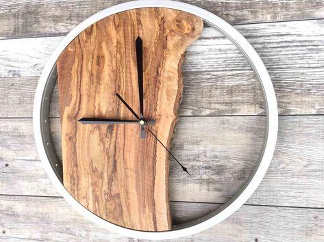 Large Wood Wall Clock, Unique Wall Clock, Wood Wall Art, Office Wall Decor, Rustic Clock, Housewarming Gift  #art #clock #Decor #gift #Housewarming #large #office #rustic #unique #wall #wood